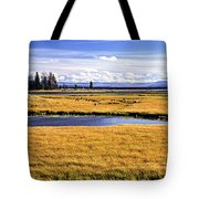 Geese At Yellowstone Lake Tote Bag