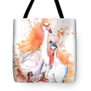 Geese In Spanish Winter Tote Bag