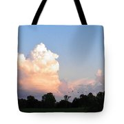 Geese In The Evening Tote Bag