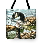Geese On The Pond II Tote Bag