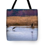 Geese Up And Away Tote Bag