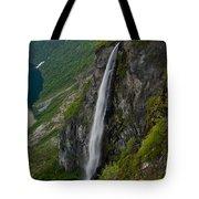 Geirangerfjord Waterfall Tote Bag
