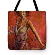 Geisha Fan Dance Tote Bag