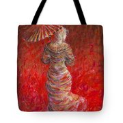Geisha In Red Tote Bag
