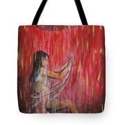 Geisha Rain Warrior Tote Bag