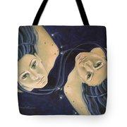 Gemini From Zodiac Series Tote Bag