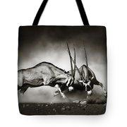 Gemsbok Fight Tote Bag