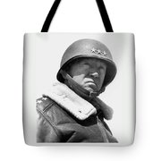 General George Patton Tote Bag by War Is Hell Store