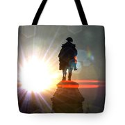 General In Sunrise Flares Tote Bag