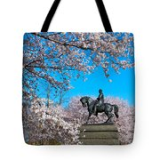 General In The Cherry Blossoms Tote Bag