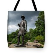 General K Warren Monument Gettysburg Tote Bag by James Brunker