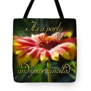 General Party Invitation - Blanket Flower Wildflower Tote Bag by Mother Nature