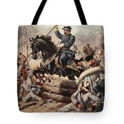 General Sheridan At The Battle Of Five Tote Bag
