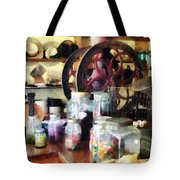 General Store With Candy Jars Tote Bag by Susan Savad