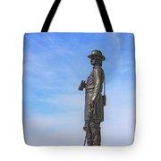 General Warren Statue At Gettysburg Tote Bag by Randy Steele