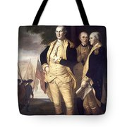 Generals At Yorktown, 1781 Tote Bag