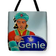 Genie Neon Sign Tote Bag