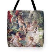 Genius Teaching The Arts, 1761 Oil On Canvas Detail Tote Bag