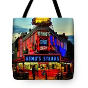 Geno's Steaks Tote Bag by Benjamin Yeager
