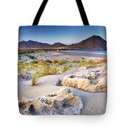 Genoveses Beach At Sunset Tote Bag