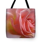 Gentle Pink Rose Tote Bag