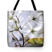 Gentle White Spring Flowers Tote Bag