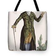 Gentleman In Green Coat, Plate Tote Bag