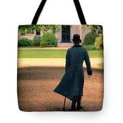 Gentleman Walking Towards A House Tote Bag