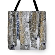 Gently Falling Forest Snow Tote Bag