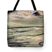 Gently Gliding Water Abstract Tote Bag