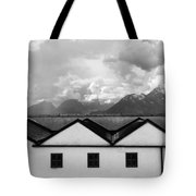 Geometric Architecture In Black And White Tote Bag