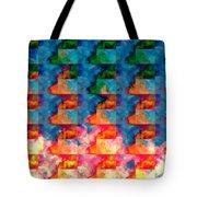 Geometric Cloud Cover Tote Bag