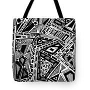 Geometric Doodle Tote Bag