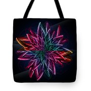Geometric Flower  Tote Bag