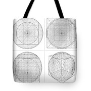 Geometric Intersection Of Cube And Sphere  Tote Bag