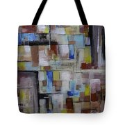 Geometric Modern Painting Original On Canvas Tote Bag