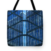 Geometric Reflection Tote Bag