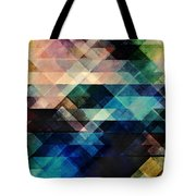 Geometric Textural Colorations Tote Bag
