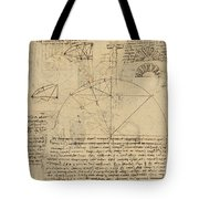 Geometrical Study About Transformation From Rectilinear To Curved Surfaces And Vice Versa From Atlan Tote Bag