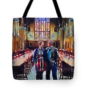 George And Chrissy At Hogwarts Tote Bag