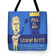 George Brett Kc Royals Tote Bag by Jay Perkins