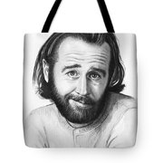 George Carlin Portrait Tote Bag by Olga Shvartsur