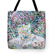 George Harrison With Cat Tote Bag