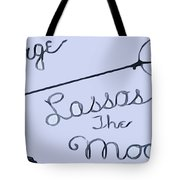 George Lassos The Moon Tote Bag by Dan Sproul