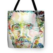 George Orwell Watercolor Portrait Tote Bag