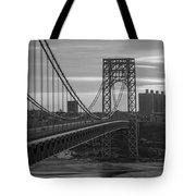 George Washington Bridge Frame Work Bw Tote Bag