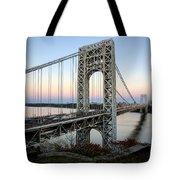 George Washington Bridge Sunset Tote Bag by Susan Candelario