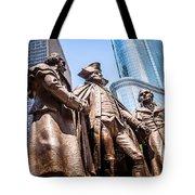 George Washington-robert Morris-hyam Salomon Memorial Statue Tote Bag