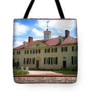George Washington's Mount Vernon Tote Bag