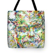 Georges Brassens Portrait Tote Bag